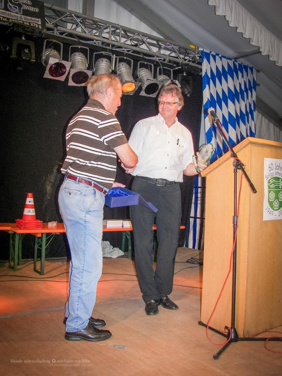 Ehrungsabend - 60-Jahrfeier der SpVgg Jettenbach am 5.7.2009